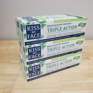 6 Tubes of Kiss My Face Triple Action Cool Mint